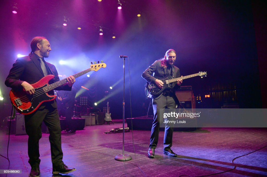 Todd Smallie and Andrew Trube of JJ Grey & Mofro perform at The Fillmore Miami Beach at Jackie Gleason Theater on February 25, 2018 in Miami Beach, Florida.