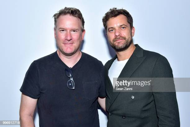 Todd Snyder and Joshua Jackson attend the Todd Snyder S/S 2019 Collection during NYFW Men's July 2018 at Industria Studios on July 11 2018 in New...