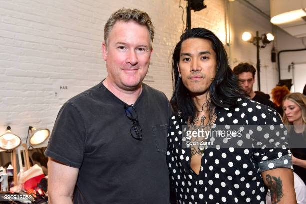 Todd Snyder and Robin Capili attend the Todd Snyder S/S 2019 Collection during NYFW Men's July 2018 at Industria Studios on July 11 2018 in New York...