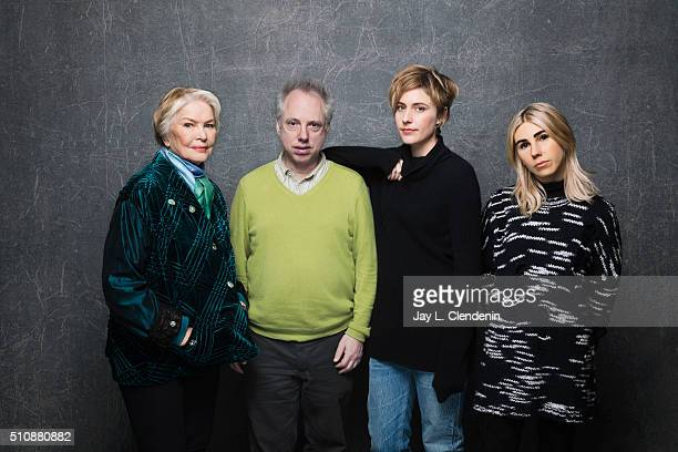 Todd Solondz, director, Greta Gerwig, Zosia Mamet, and Ellen Burstyn from the film 'Weiner Dog' poses for a portrait at the 2016 Sundance Film...