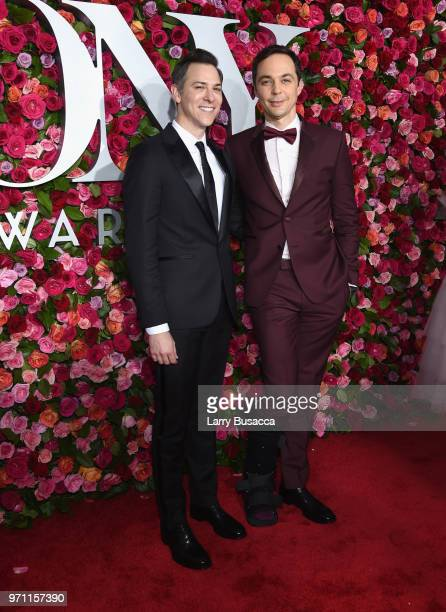 Todd Spiewak and Jim Parsons attend the 72nd Annual Tony Awards at Radio City Music Hall on June 10 2018 in New York City