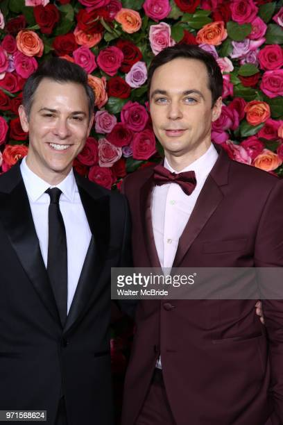 Todd Spiewak and Jim Parsons attend the 72nd Annual Tony Awards on June 10 2018 at Radio City Music Hall in New York City