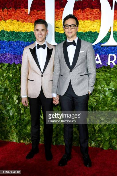 Todd Spiewak and Jim Parsons attend the 73rd Annual Tony Awards at Radio City Music Hall on June 09, 2019 in New York City.