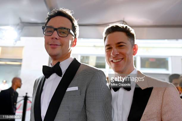 Todd Spiewak and Jim Parsons attend the 73rd Annual Tony Awards at Radio City Music Hall on June 09 2019 in New York City