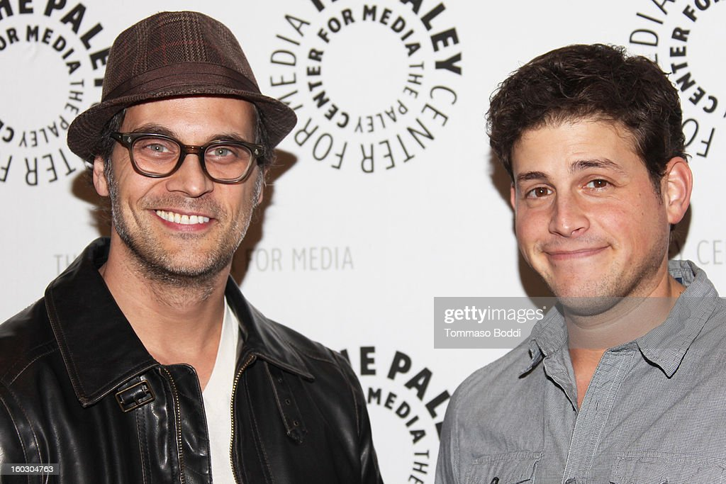 Todd Stashwick (L) and David Blue attend The Paley Center for Media and Warner Bros. Home Entertainment present 'Batman: The Dark Knight Returns - Part 2' premiere held at The Paley Center for Media on January 28, 2013 in Beverly Hills, California.