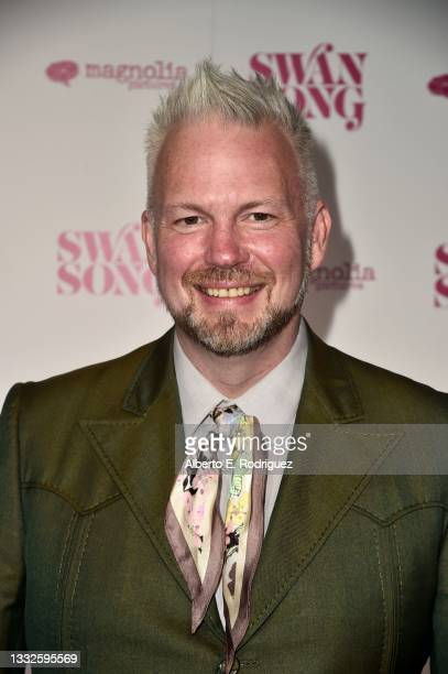 """Todd Stephens attends the premiere of Magnolia Pictures' """"Swan Song"""" at iPic Theaters on August 05, 2021 in Los Angeles, California."""