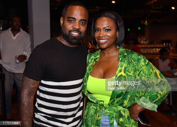Todd Tucker and Kandi Burruss attend Majic 107.5 After Dark at City Winery on September 03, 2019 in Atlanta, Georgia.