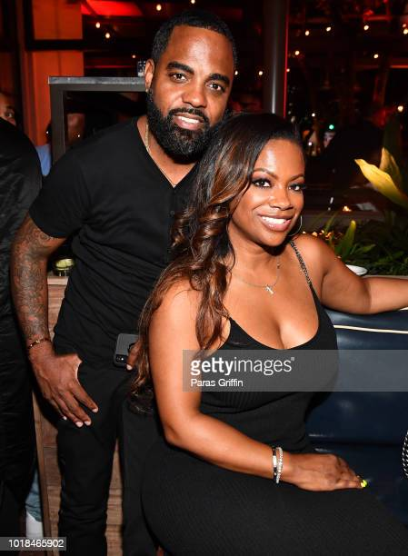 Todd Tucker and Kandi Burruss attend The Bonfyre Listening Session Dinner presented by Hitco at King Duke Restaurant on August 17 2018 in Atlanta...