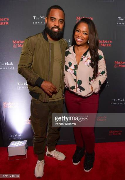 Todd Tucker and Kandi Burruss attend The Mark Supper Club at OLG on November 8 2017 in Atlanta Georgia
