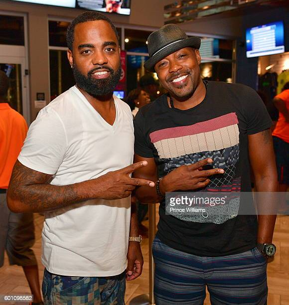 Todd Tucker and Will Packer attend LudaDay Weekend TopGolf Takeover at TopGolf on September 4 2016 in Atlanta Georgia