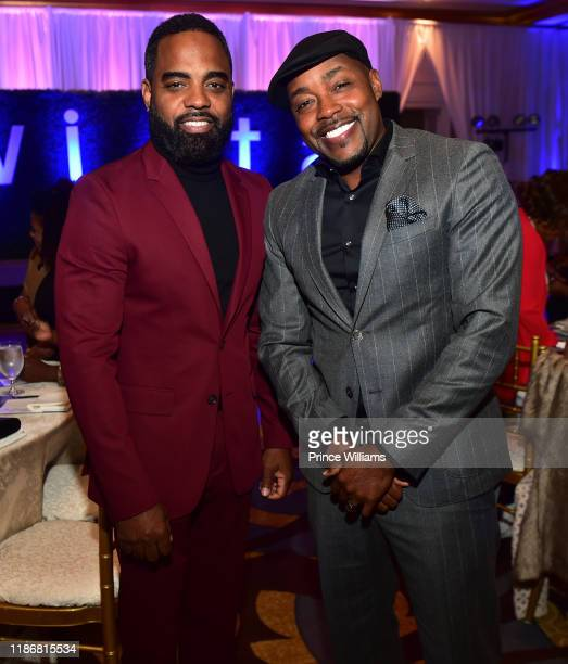 Todd Tucker and Will Packer attend the 2019 WIFTA Gala at Four Seasons Hotel on November 9 2019 in Atlanta Georgia