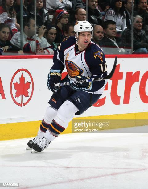 Todd White of the Atlanta Thrashers skates against the Montreal Canadiens at the Bell Centre on March 24, 2009 in Montreal, Quebec, Canada.