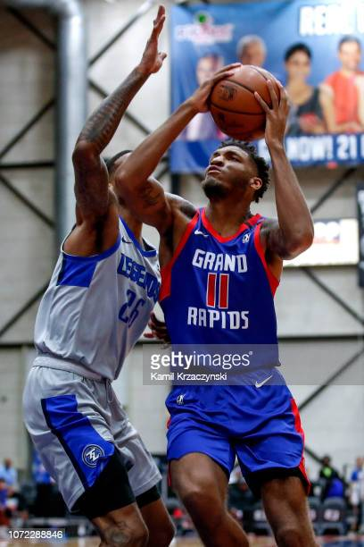 Todd Withers of the Grand Rapids Drive goes to the basket against the Texas Legends on December 12 2018 at DeltaPlex Arena in Grand Rapids Michigan...