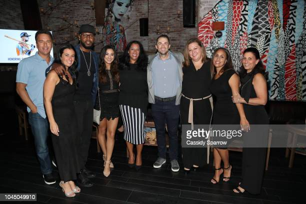 Todd Zeile Rachel Detore Cliff Floyd Camille Wilkie Anna Domenech David Wright Erica Barrone Marie Rivera and Paula Levinson attend Private Dinner...