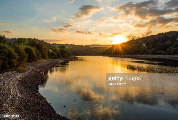toddbrook reservoir - laura woods stock pictures, royalty-free photos & images