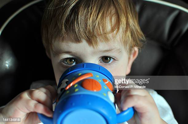 Toddler and his sippy cup