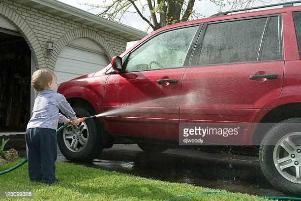 Lavage de voiture-pour-jeunes-enfants