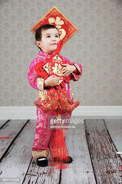 Toddler celebrates Chinese New Year