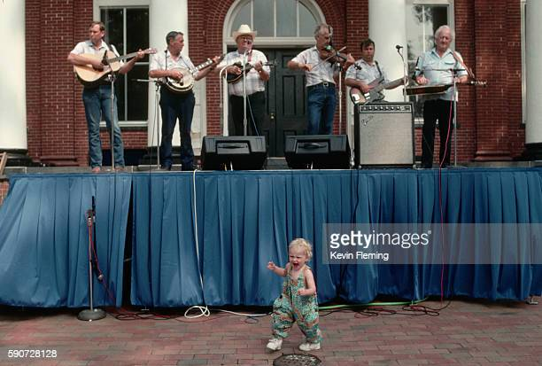 Toddler Dancing to Bluegrass Band