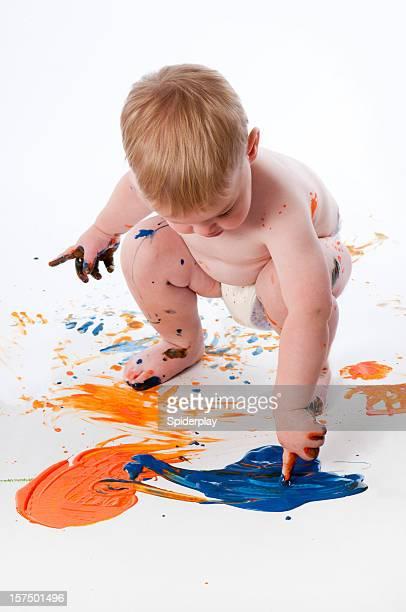 Toddler Fingerpainting