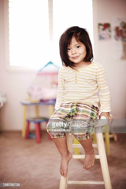 Toddler Girl in her Toy Room