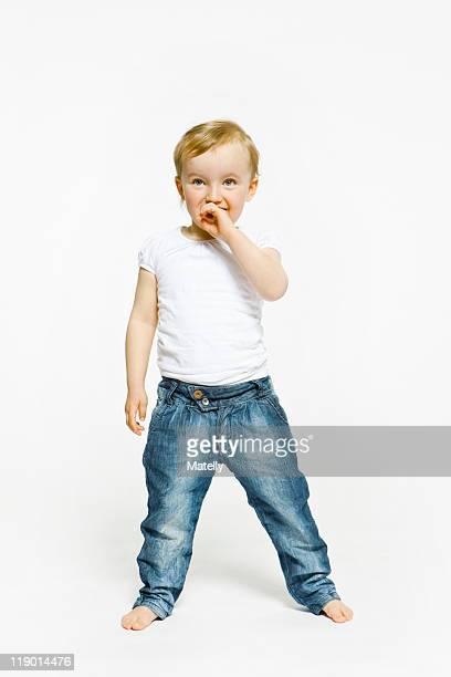 Toddler girl standing