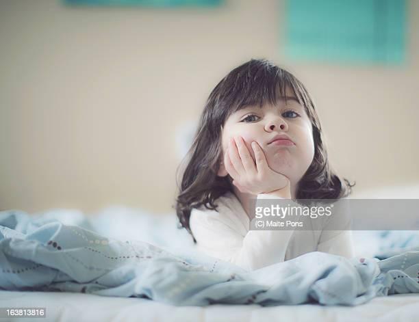 Toddler Girl Thinking