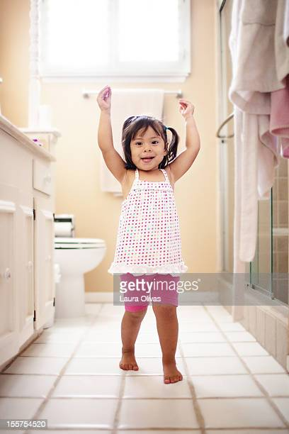 Toddler Happy After Using Potty