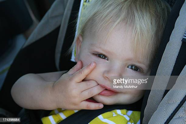 Toddler in Carseat