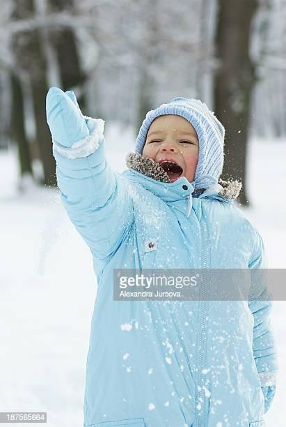 Toddler in winter