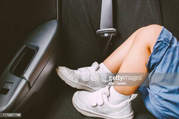 a toddler is sleeping in the car - capital region stock pictures, royalty-free photos & images