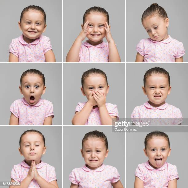 Toddler making different face expressions