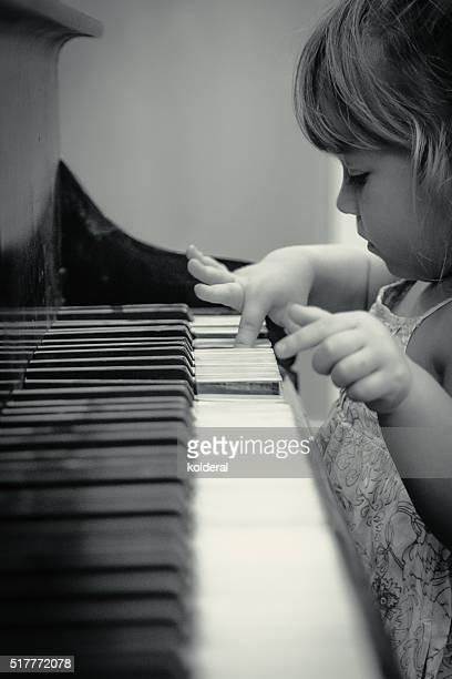 Toddler Playing Piano