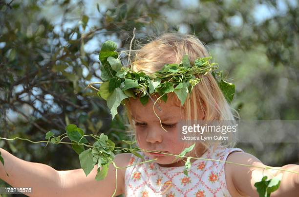 Toddler with Crown of Vines