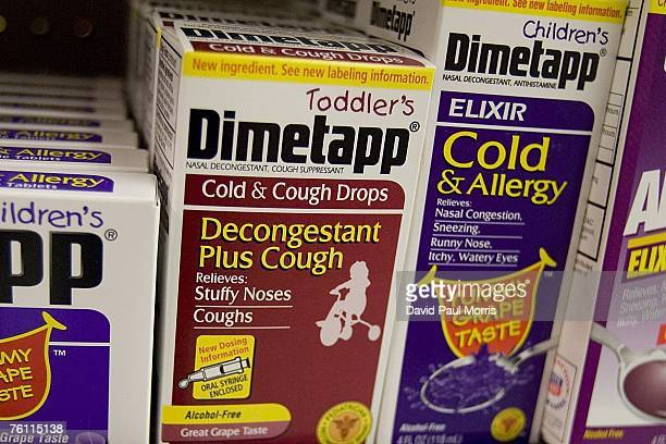 Toddler's Dimetapp cold and cough medicine is seen at a Rite Aid store on August 15 2007 in San Francisco California The FDA In it's first major...