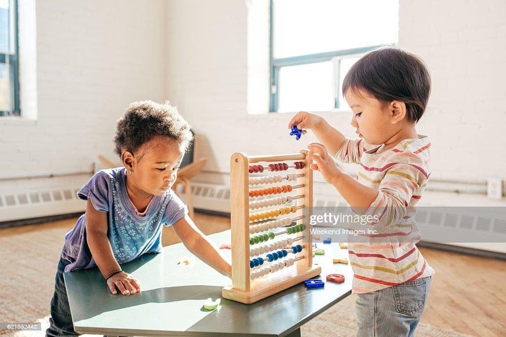 Toddlers in kindergarten : Stock Photo