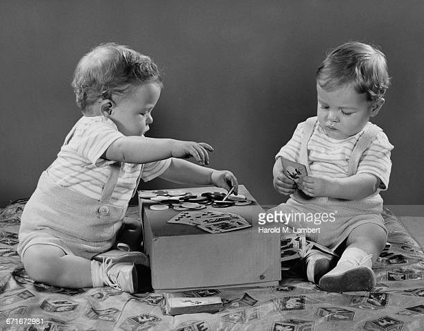 Toddlers Playing Cards