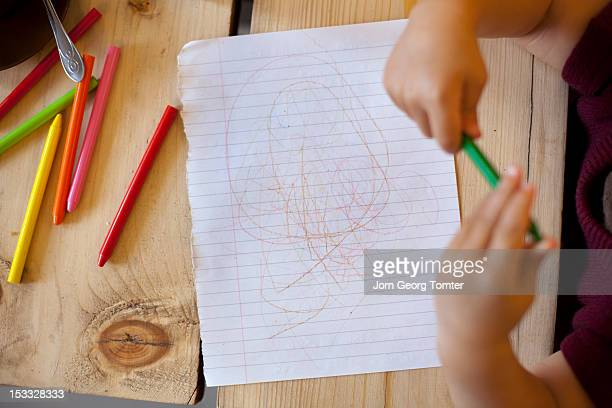 A toddler's scribbles