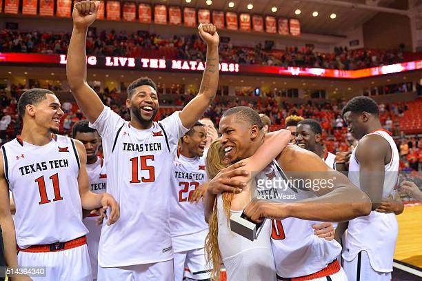 Toddrick Gotcher of the Texas Tech Red Raiders proposal to Kelly McQuaid is accepted after the game between the Texas Tech Red Raiders and the Kansas...