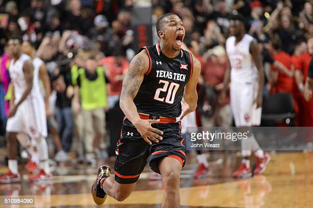 Toddrick Gotcher of the Texas Tech Red Raiders reacts after the game against the Oklahoma Sooners on February 17, 2016 at United Supermarkets Arena...