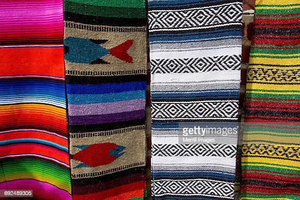 todos santos, woven rugs for sale - todos santos mexico fotografías e imágenes de stock