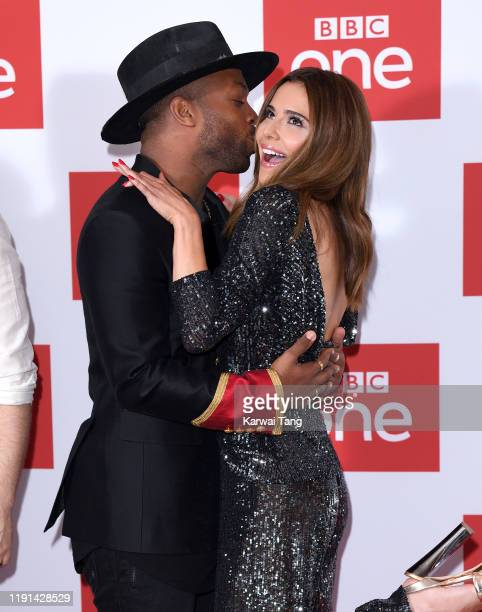 "Todrick Hall and Cheryl attend ""The Greatest Dancer"" photocall at Soho Hotel on December 02, 2019 in London, England."