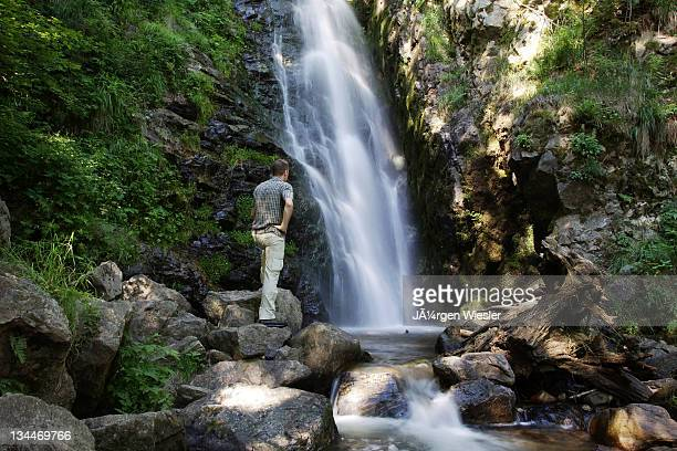 Todtnauer Wasserfall waterfalls in Todtnau in the Black Forest, Baden-Wuerttemberg Germany, Europe