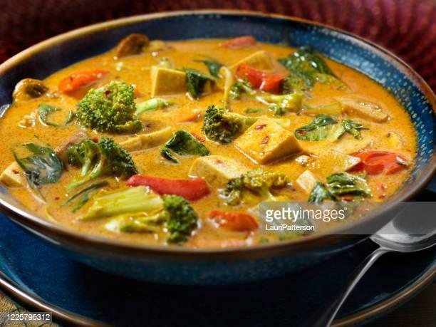 豆腐カレースープ野菜 - タイ文化 ストックフォトと画像