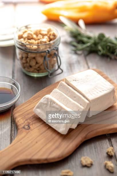 tofu e soia - kinako stock pictures, royalty-free photos & images