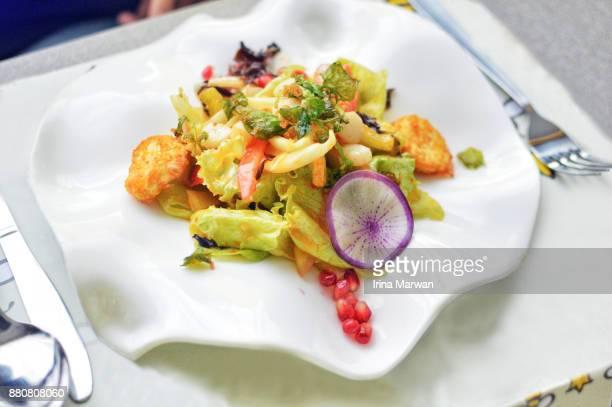 Tofu Fruit & Vegetable Salad