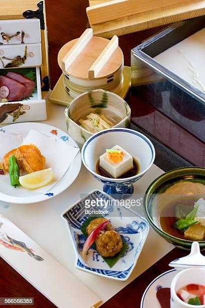 Tofu kaiseki dishes