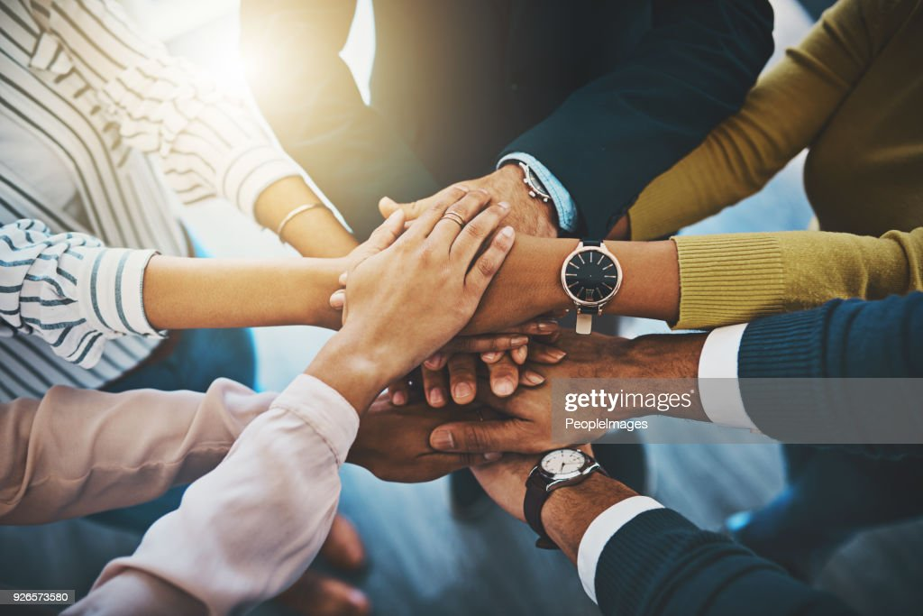 Together as one is how we'll win : Stock Photo