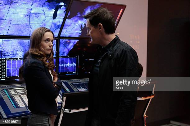BELIEVE Together Episode 109 Pictured Kerry Condon as Zoe Boyle Kyle MacLachlan as Roman Skouras