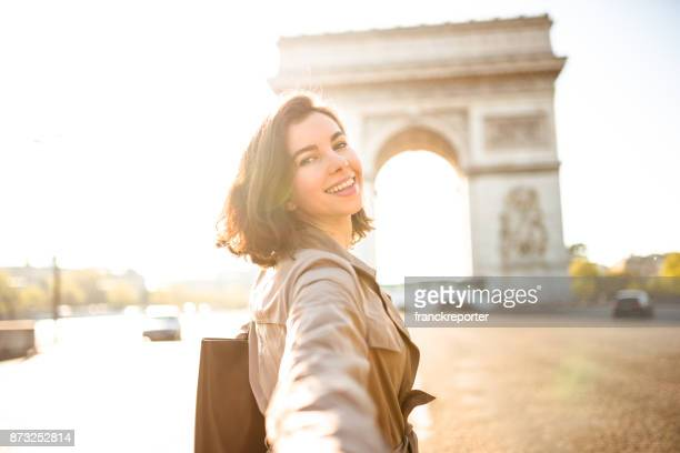 together exploring in paris - french women stock photos and pictures